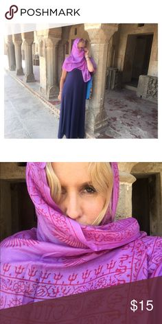 🕉 Lavender OM scarf from India 🕉 Lovely Lavender: An exquisite hand made scarf from India. Divinely inspired & cosmic to wear in silky, soft, flowing cotton. Accessories Scarves & Wraps