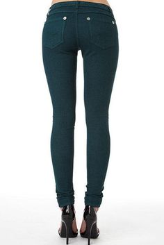 ROYAL BLUE Colored Skinny in Hunter Green