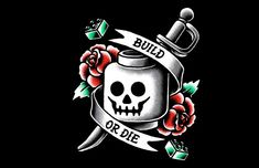 BUILD OR DIE : The bricks get serious on the LEGO Build or Die T-Shirt. Cool artwork with a stylized image that resembles a tattoo, with a LEGO skull in place of a regular one, of course. Get as a tshirt for men and women master builders