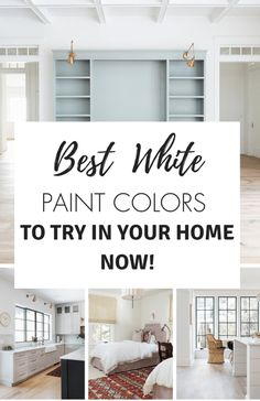 best white paint colors to use in your home Best White Paint, White Paint Colors, Best Paint Colors, Interior Paint Colors, White Paints, Living Room On A Budget, Cozy Living Rooms, Living Room Decor, Bedroom Decor