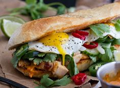 Gourmet Sandwiches, Wrap Sandwiches, Sandwich Recipes, Brunch Recipes, Gourmet Recipes, Cooking Recipes, Crepes, Eggs And Sweet Potato, New Pizza
