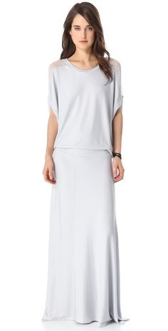 Heather Blouson Maxi Dress. If I can only be as tall as her.
