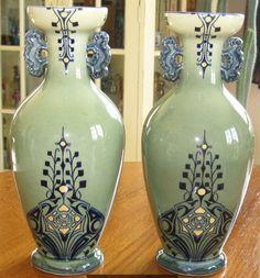 De Bruyn Fives Lille Vases superbes aux motifs stylisés n° 860 1 D 1184