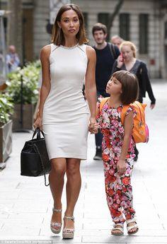Myleene Klass takes daughter Ava to radio show #dailymail