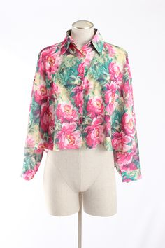 UNIF Cold Shoulder Floral Print Blouse via @Threadflip