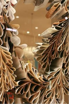 Could be created with old newspapers to create texture and utilize recycled materials