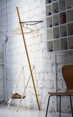 Triangle coat rack and Rectangle shoe rack by Laura Väre for Nordic Hysteria