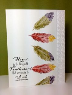 Fine Feathers: Waltzingmouse stamps, feather, by beesmom - Cards and Paper Crafts at Splitcoaststampers