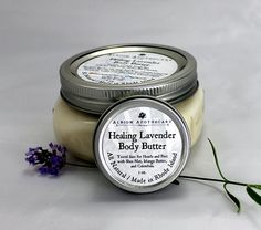 Lavender Body Butter with Healing Calendula by AlbionApothecary