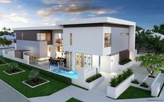 Looking for home builders in Melbourne? Pillar Homes offer Custom & New home building design at affordable prices for your dream homes. Beautiful Architecture, Contemporary Architecture, Facade Design, Exterior Design, Style At Home, Residential Architecture, Interior Architecture, House Plans Australia, Facade House