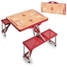 Houston Rockets NBA Red Portable Picnic Table