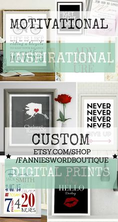 Digital Prints, Printable #Quotes, Motivational Word #Art. Redecorate your home at an affordable price. Save & print artwork from home or at a local print shop. Change your home decor as art trends change.