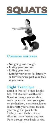 One common mistake I see made in the gym over and over again is the improper form for squats.