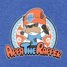 #Avatar: The Last Airbender: #Appa mashup with #PaRappa the Rapper t-shirt.