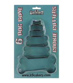 Cookie Cutters 6/Pkg-Bone ShapedCookie Cutters 6/Pkg-Bone Shaped,