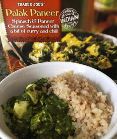 After a sweaty breathtaking workout today it left me quite famished! So here is my Low Carb Meal for lunch today  I'm obsessed with this item from Trader Joe's called Palak Paneer. It is a vegetarian dish from India made with Spinach & Indian Cheese. It has a pasty / pesto like consistency that is slightly spicy with a Curry flavor.  The package itself has 2 servings so I only had 1/2 what  was in the container which all I had to do was nuke it.  Even though it's vegetarian I needed the…