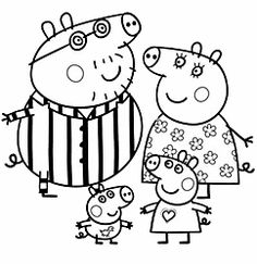 Peppa Pig Colouring Pages Find Here Free Printable Coloring For Kids Donwload And Color Piggy George Mummy Daddy