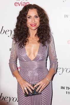 Minnie Driver wowed in a lilac sequined dress at the LA premiere of her new film, 'Beyond The Lights,' on Wednesday. Nov. 12. (Picture Perfect) | Closer Weekly