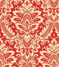 Upholstery Fabric-Waverly Donnington Crimson