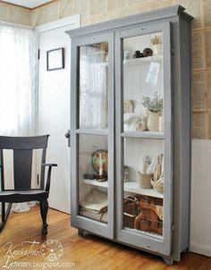 What a striking antique-look cupboard you can make from repurposed windows!