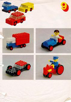 Lego autos and other vehicles