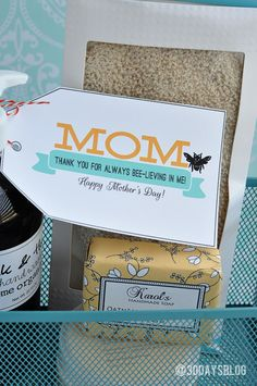 Cute idea to surprise mom with and easy to put together for a Mother's Day gift.  Use Avery printable tags and free templates and designs to create a similar tag.