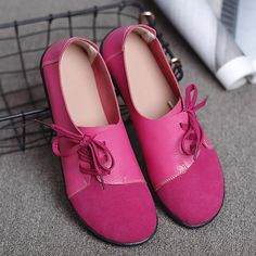 Large Size Women Casual Soft Lightweight Splicing Leather Lace Up Flats Loafers is cheap and comfortable. There are other cheap women flats and loafers online Mobile. Leather Flats, Leather And Lace, Georgia, Loafers Online, Lace Up Flats, Plus Size Casual, Fashion Flats, Types Of Shoes, Womens Flats