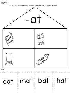 Printables At Words Worksheet ip word family trace and write families words worksheets
