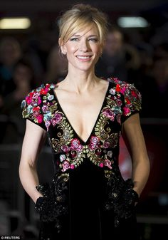 Best Dressed: Cate Blanchett in luxuriously elegant velvet Schiaparelli couture dress. #WOW