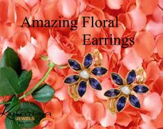 Amazing floral earrings COD option available with free shipping in India