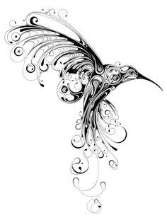 Filigree Hummingbird tattoo