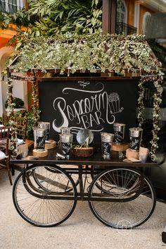 Casamento rústico-chique: bar de pipoca - Foto Pinnola Fotografia
