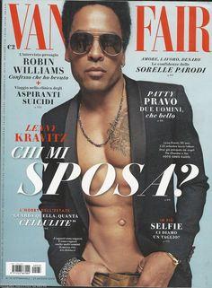 Lenny Kravitz on the cover of Italian Vanity Fair August 2014