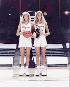 """According to the 2004 Guinness World Records book, the tallest female twins in the world are twin sisters, Ann and Claire Recht, of Canby, Oregon (Ann is at the left in this picture taken when they were 17 yrs. old. They are now 6 ft 7-1/2 in and 6 ft 7-1/4 in."""" and their record is being challenged by another pair of twins."""