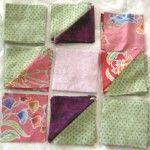 chain sewing patches in quilt block