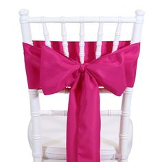 Polyester Chair Sash - Fuchsia [404028] : Wholesale Wedding Supplies, Discount Wedding Favors, Party Favors, and Bulk Event Supplies