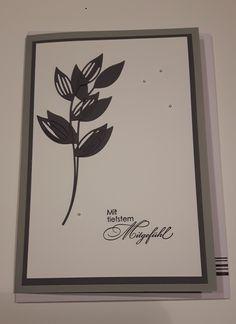 Trauerkarte: Stanze Feuillages simply graphic, Schriftstanze Renke, CS von SU