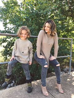 Mommy and son twinning! Who says only girl moms can do matching outfits with their kids? Click or visit FabEveryday.com for more photos and details on these coordinating mom and son outfits from @boohooofficial and their new kids collection. #ad #boymom #fabeveryday