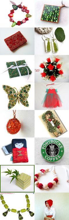 * * Christmas Coming * * by wonderful Kanzashi on Etsy--Pinned with TreasuryPin.com