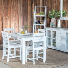Lily 1500 Dining Package with 4 Chairs (Table: 1500W x 900D x 785H mm; Chairs: 475W x 500D x 925H mm) RRP $1,265