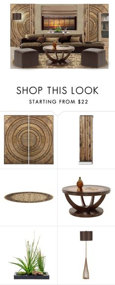 """UNTITLED INTERIOR"" by arjanadesign ❤ liked on Polyvore featuring interior, interiors, interior design, home, home decor, interior decorating, Lazy Susan, 3M, Sunpan and Home"