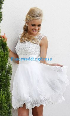 Beaded Scoop Neckline Vback Dress 2014 by Fancyweddingdresses, $123.99