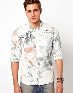 ASOS Shirt With Floral Print Floral Shirts, Printed Shirts, Mens Trends,  Daily Fashion 2afa15896a