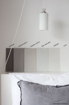 Kalklitir, maybe I will go for a light grey shade in the bedroom. Interior Inspiration, Color Inspiration, Lime Paint, Colorful Interior Design, Dream Rooms, House Colors, Home Furnishings, Room Decor, House Styles