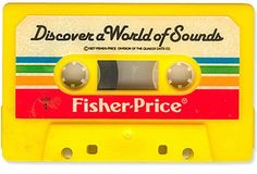 Vintage Fisher-Price cassette tape. AAAH!!! Here is the first Cassette Tape I ever Had! I played the hell outta this thing!