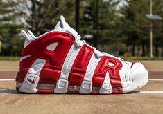 f26b193225cdd Nike Air More Uptempo White Gym Red 414962-100. Zapatillas De  BaloncestoZapatillas ...