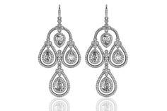 Aadya #Diamond Look #Earring in Silver......