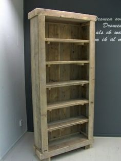 made from pallets and old planks