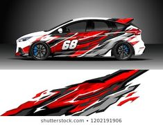 Similar Images, Stock Photos & Vectors of Racing car wrap design vector. Graphic abstract stripe racing background kit designs for wrap vehicle, race car, rally, adventure and livery - 1202191921 Auto Design, Sky Car, Underwater Background, Racing Car Design, Design Vector, Car Decals, Vehicle Decals, Vinyl Decals, Bike Art