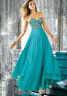 Vintage & Retro Chiffon A line Floor Length Empire Sweetheart Prom Dress - Lunadress.co.uk